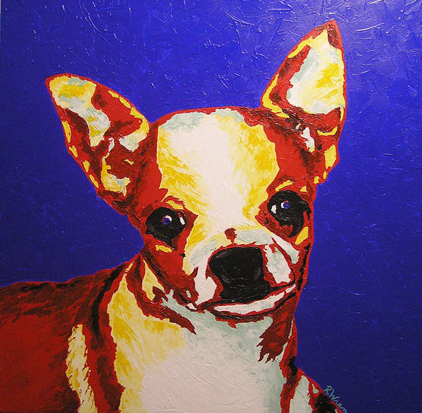 Dog Poster featuring the painting Random Dog Number 2 by Ricklene Wren