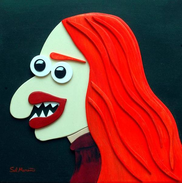 Funism Poster featuring the sculpture Redhead by Sal Marino