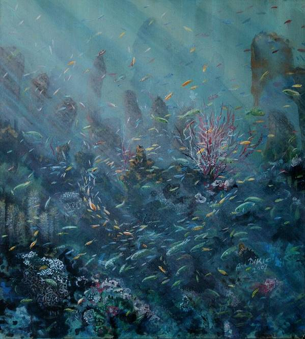 Reef Poster featuring the painting Rejuvenation by Ana Bikic