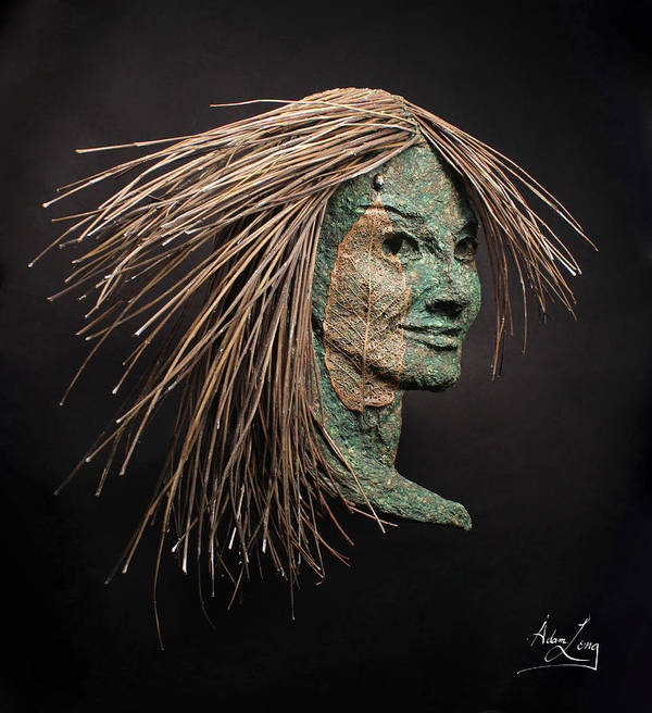Face Poster featuring the sculpture Revealed by Adam Long