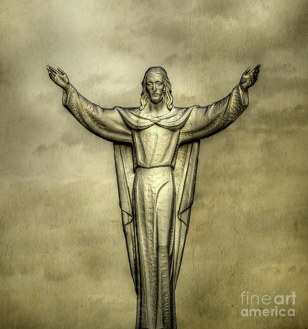 Jesus Christ Poster featuring the digital art Risen Christ In Gold by Randy Steele