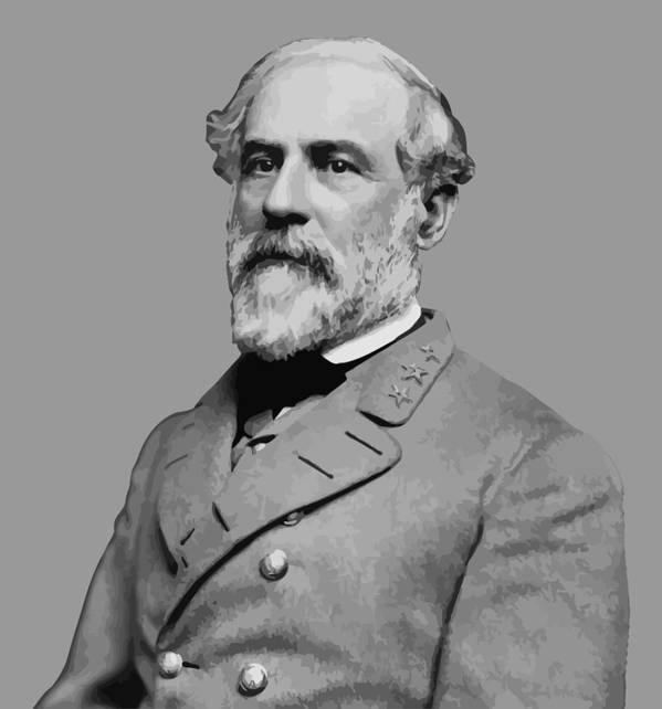 Robert E Lee Poster featuring the painting Robert E Lee - Confederate General by War Is Hell Store
