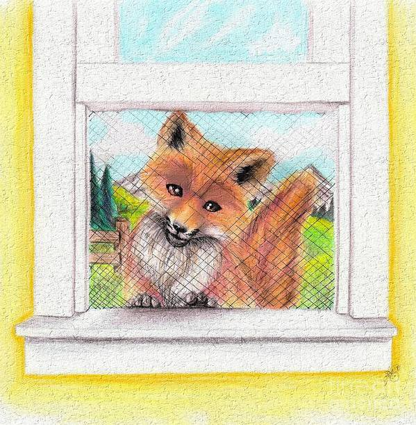 Fox Poster featuring the mixed media Root by Scarlett Royal