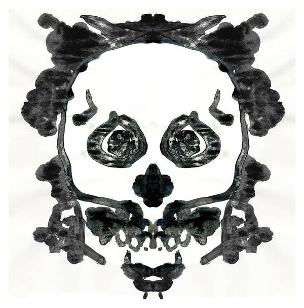 rorschach skull inkblot poster by katherine nutt