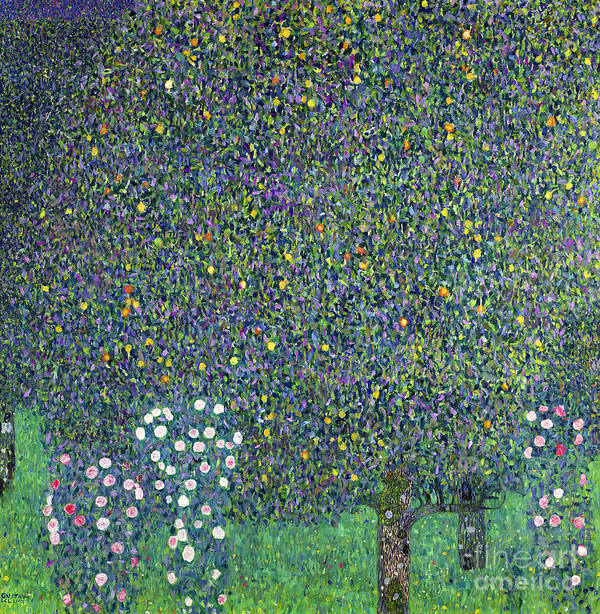 Roses Poster featuring the painting Roses Under The Trees by Gustav Klimt