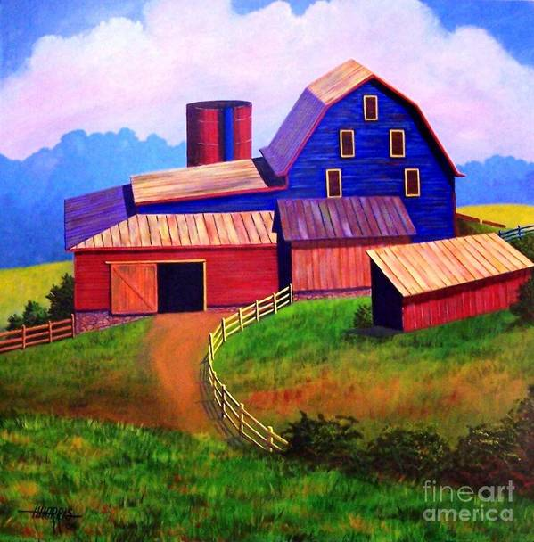 Landscape Poster featuring the painting Rural Reverie by Hugh Harris