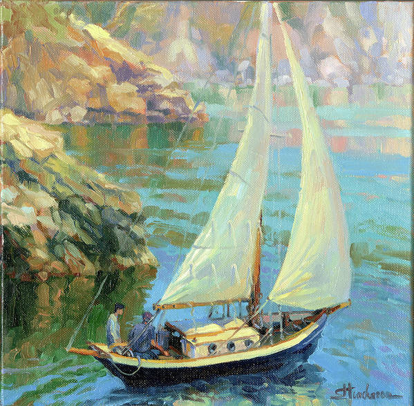 Sailboat Poster featuring the painting Saturday by Steve Henderson
