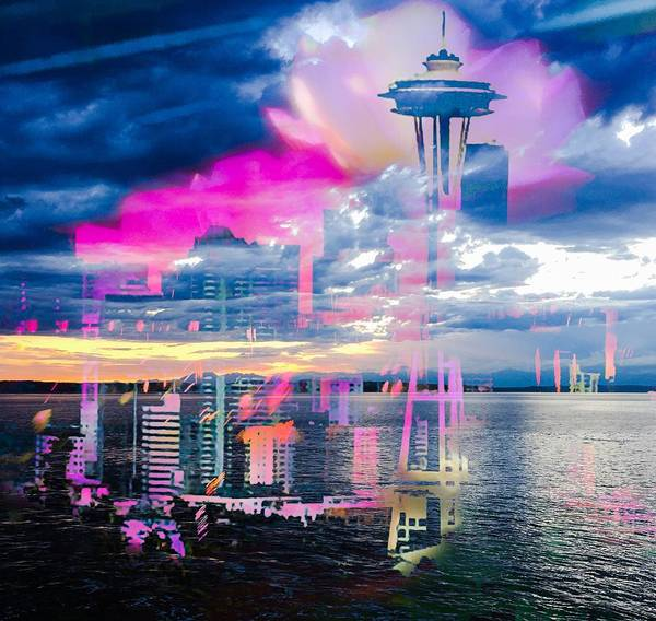 Seattle Poster featuring the photograph Seattle Rose by Rodrick Swinford