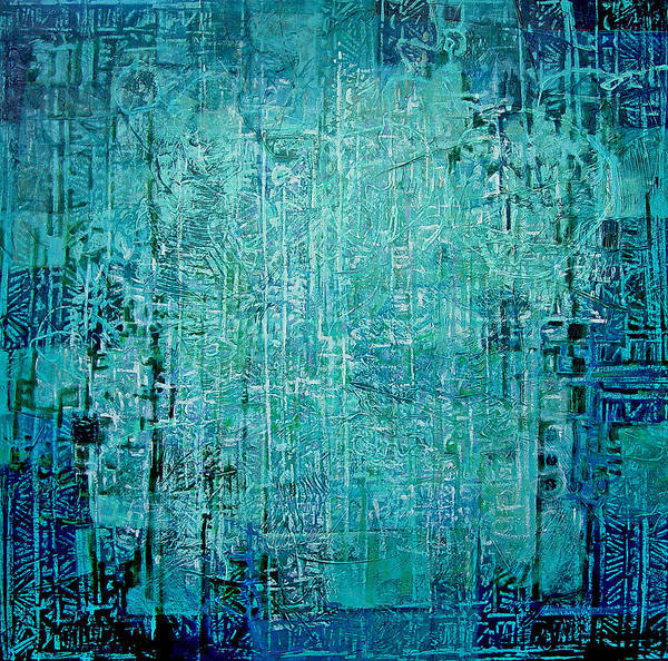 Abstract Poster featuring the painting Secret Entry by Dale Witherow