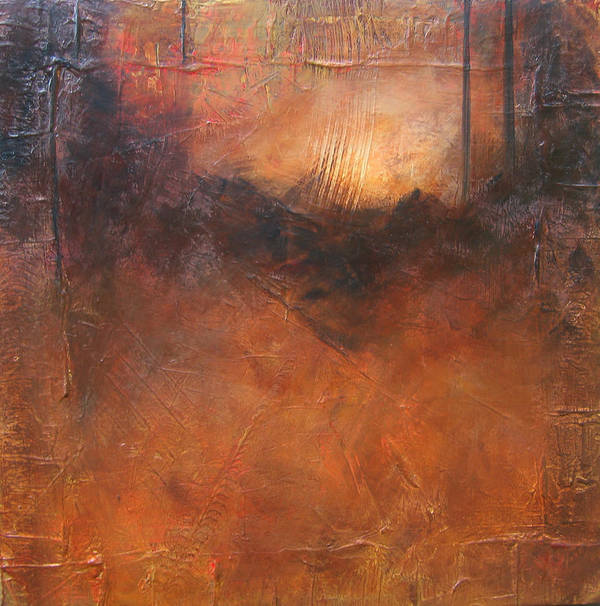 Abstract Poster featuring the painting Secrets by Carrie Allbritton