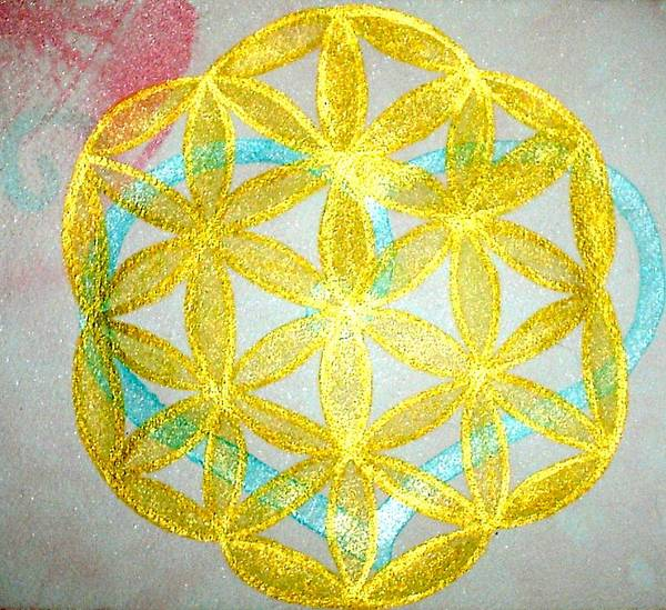 Sacred Geometry Poster featuring the painting Seed Of Life by Chandelle Hazen