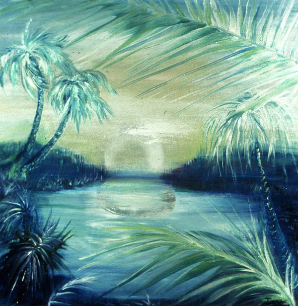 Silver Pond  Poster featuring the painting Silver Pond by Ione Citrin