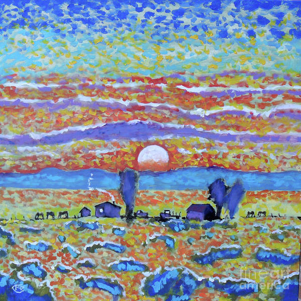 Colorful Poster featuring the painting Singing Skies by Kip Decker