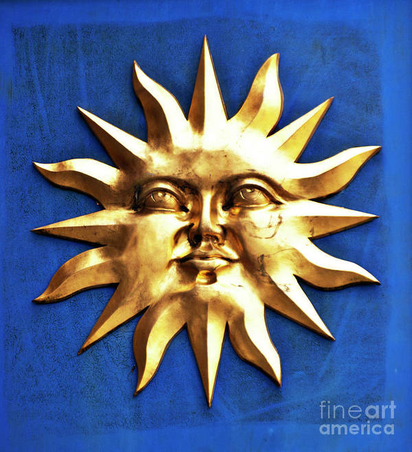 Sun Poster featuring the photograph Smiling Sunshine by Meirion Matthias