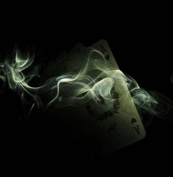 Ace Poster featuring the photograph Smoke by Ivan Vukelic