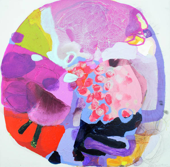 Abstract Poster featuring the painting Smug by Claire Desjardins