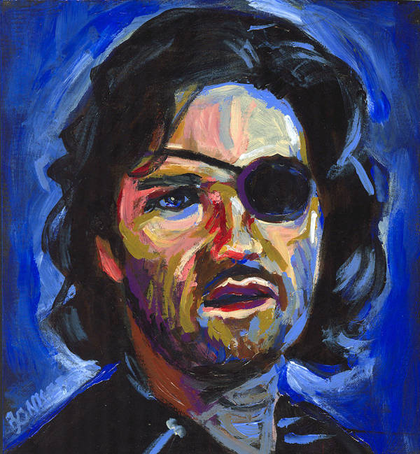Kurt Russell Poster featuring the painting Snake Plissken by Buffalo Bonker