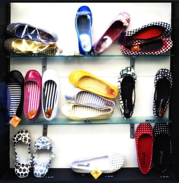 Shoes Poster featuring the photograph So Many Shoes... by Marilyn Hunt