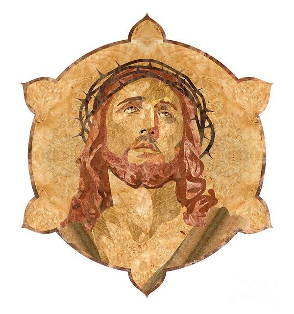 Jesus Poster featuring the pyrography Son Of God by Aydin Kalantarov