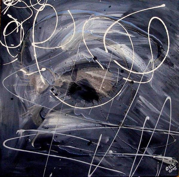 Abstract Poster featuring the painting Sound Waves by Ofelia Uz