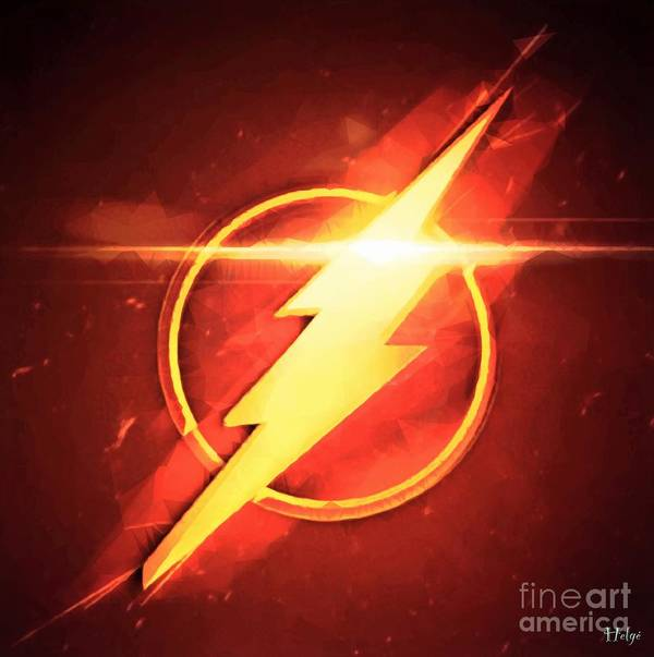 The Flash Poster featuring the digital art Speed Symbol by HELGE Art Gallery