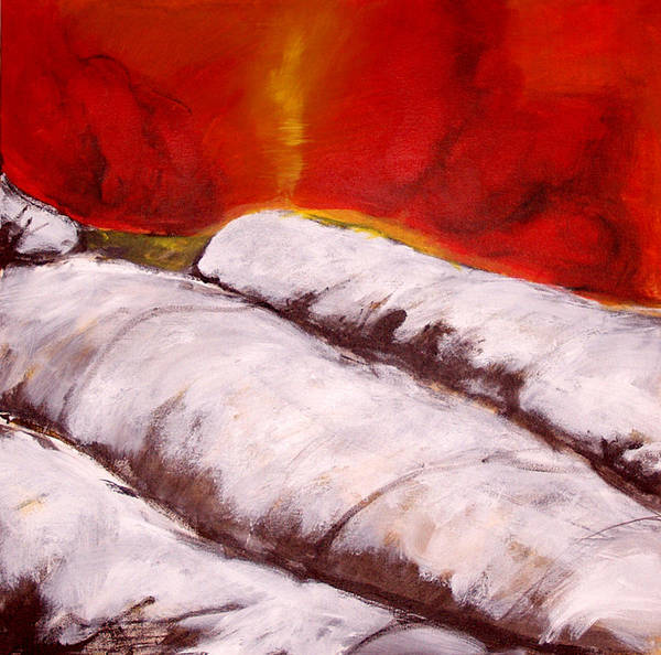 Expressionism Poster featuring the painting Spirit Over Frost by Cecilia August Sand