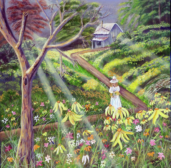 Wildflowers Poster featuring the painting Spring Splendor by Mikki Alhart