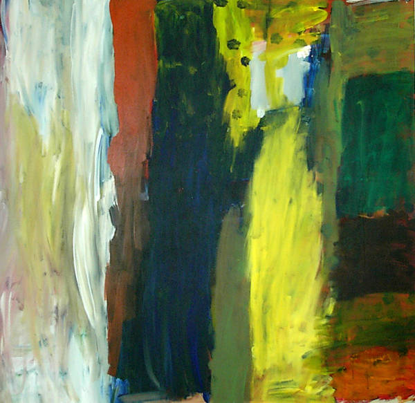 Abstract Poster featuring the painting Squares by Danny Pike