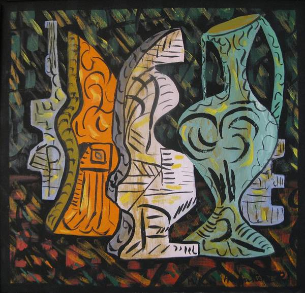 Abstract Canvas Paintings Poster featuring the painting Still Life by Alfonso Robustelli