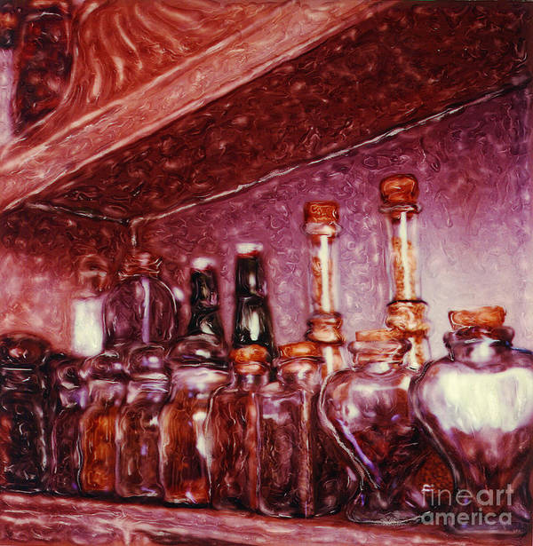 Still Life Poster featuring the photograph Still Life With Spice Jars - Polaroid Sx-70 by Renata Ratajczyk