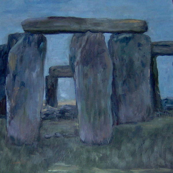 Historical Poster featuring the painting Stonehenge by Lorna Skeie