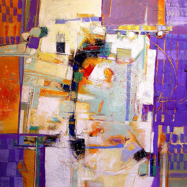 Abstract Poster featuring the painting Street Fair by Dale Witherow