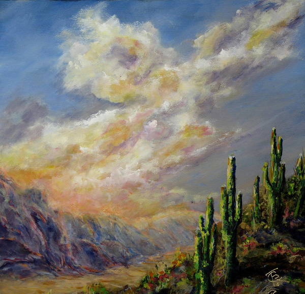 Larizona Andscape Poster featuring the painting Summer Sunrise by Thomas Restifo