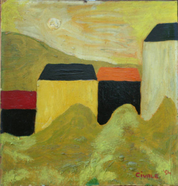 Poster featuring the painting Sunny landscape by Biagio Civale