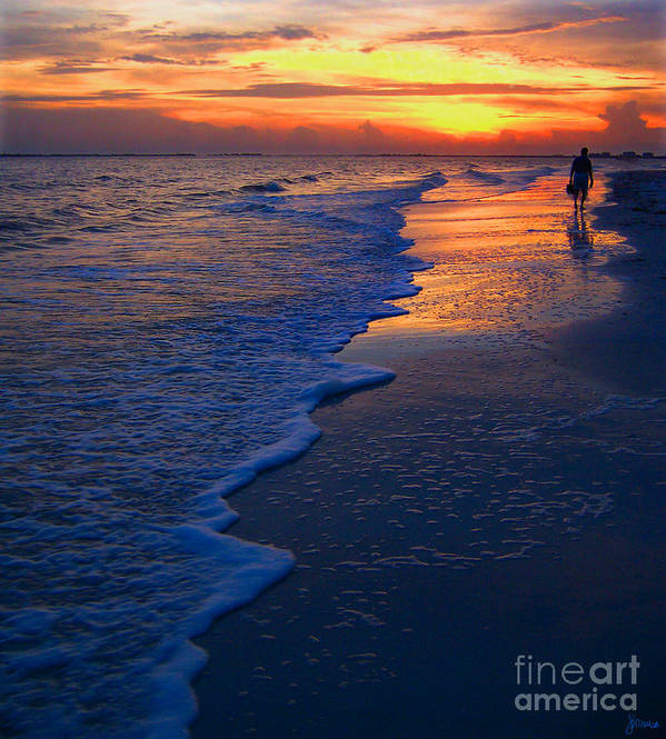 Sunset Poster featuring the photograph Sunset 1 by Jeff Breiman