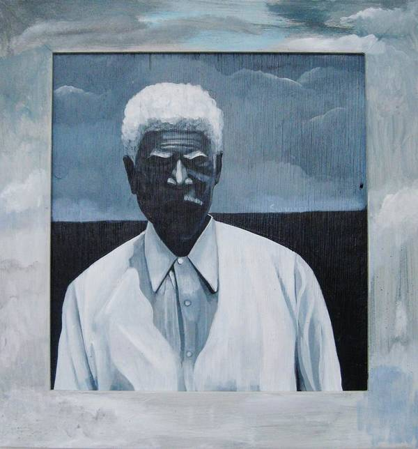 Man Poster featuring the painting Survivor James by Joyce Owens