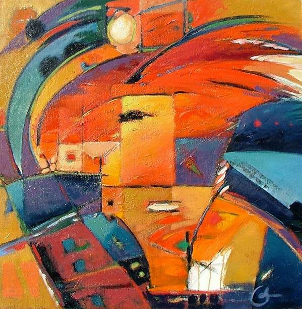 Aabstract Painting Poster featuring the painting Swaying by Gary Coleman