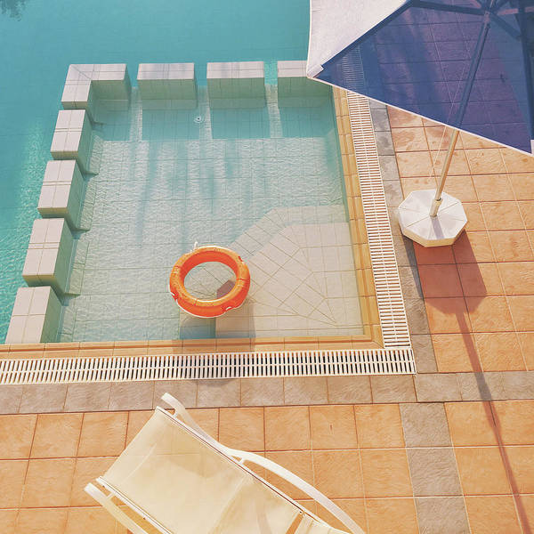 Water Poster featuring the photograph Swimming Pool by Cassia Beck