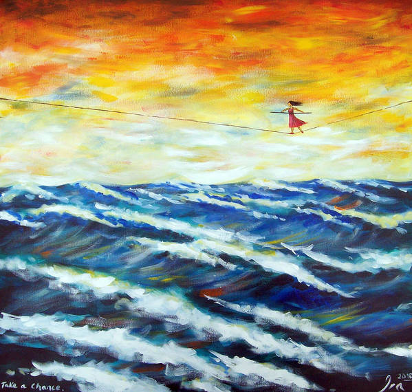 Art Poster featuring the painting Take A Chance by Ira Mitchell-Kirk
