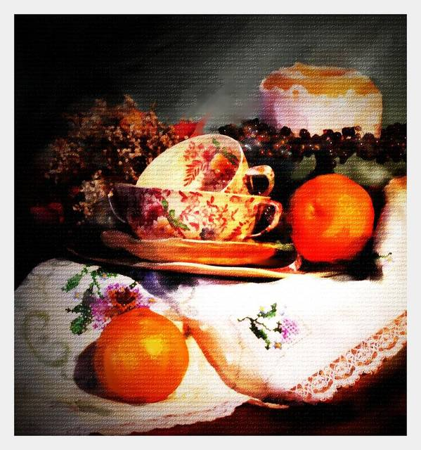 Still Life Poster featuring the photograph Tangerine by Ken Barker