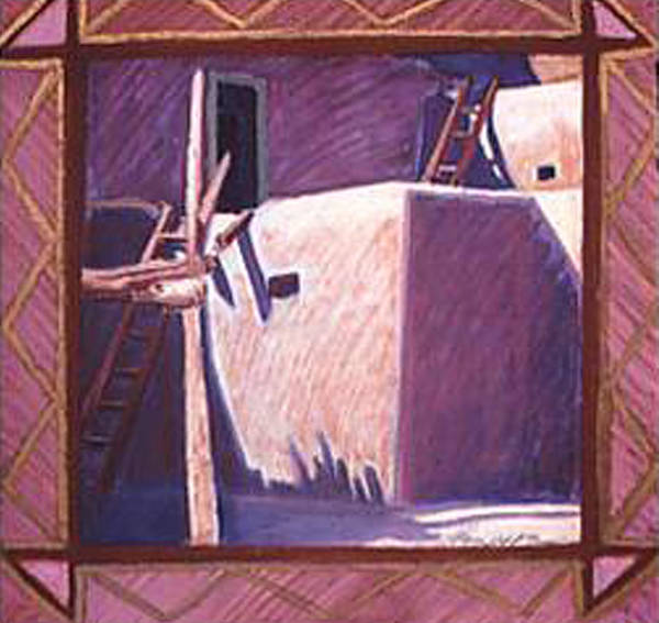 Pueblo Art Poster featuring the pastel Taos Corner by Jo Thompson