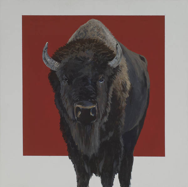 American Bison Poster featuring the painting Tatonka by Marston A Jaquis