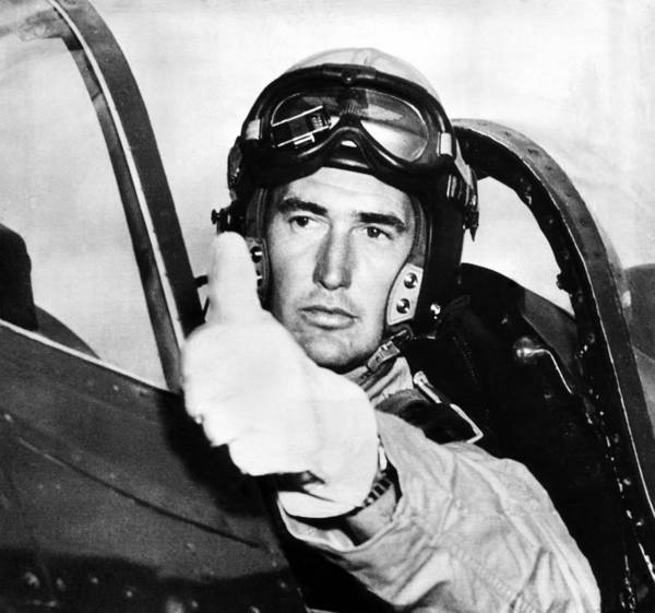 1950s Candids Poster featuring the photograph Ted Williams 1918-2002, American by Everett