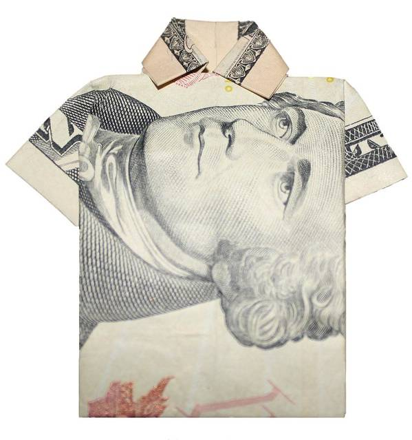 Money Poster featuring the sculpture Tendollar T Shirt by Kevin Sherf