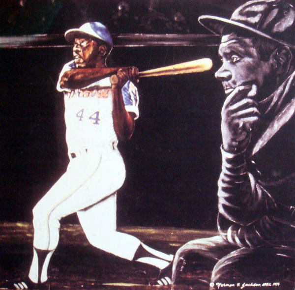 Sports Poster featuring the painting The Babe Looks On by Norman F Jackson