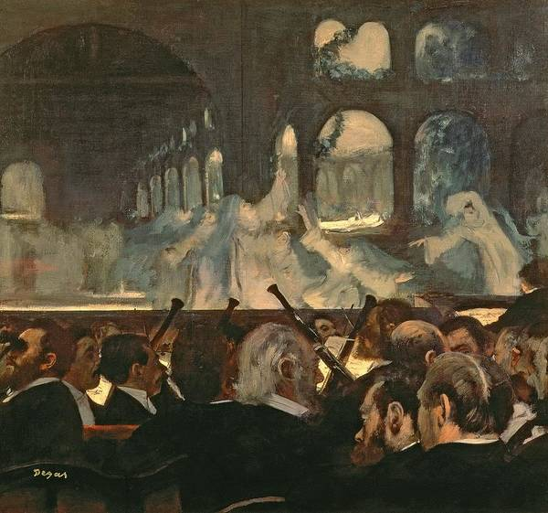 The Poster featuring the painting The Ballet Scene From Meyerbeer's Opera Robert Le Diable by Edgar Degas