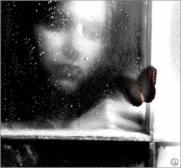 Rainy Window Poster featuring the digital art The Dark Side Of Autumn by Gun Legler