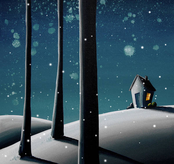 Night Poster featuring the painting The Frost by Cindy Thornton