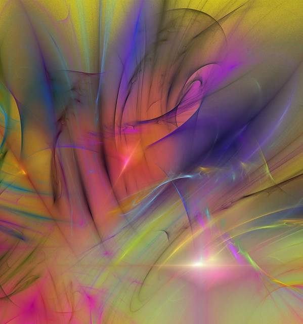 Abstract Poster featuring the digital art The Gloaming by David Lane