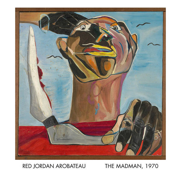 Madman Poster featuring the painting The Madman by Red Jordan Arobateau